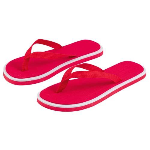 Slippers met dikke zolen bedrukken rood
