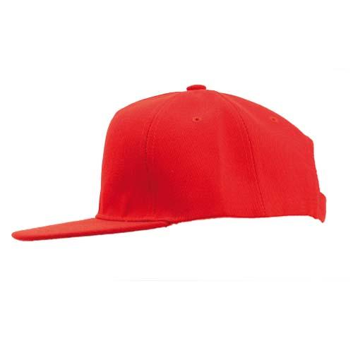 Snapback cap 5 panel bedrukken rood