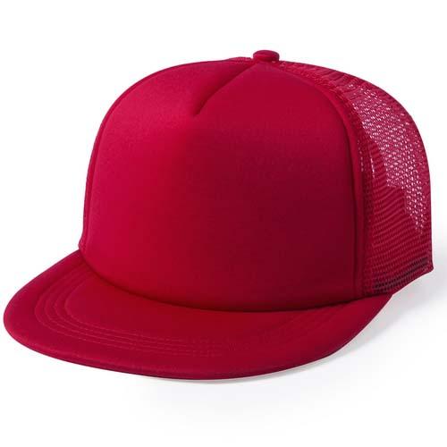 Snapback cap 5 panel mesh bedrukken rood
