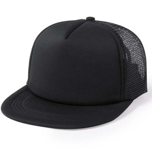 Snapback cap 5 panel mesh bedrukken zwart