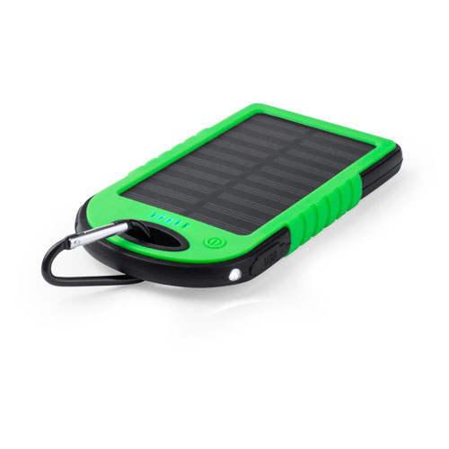 Solar-powerbank 4000mah bedrukken groen