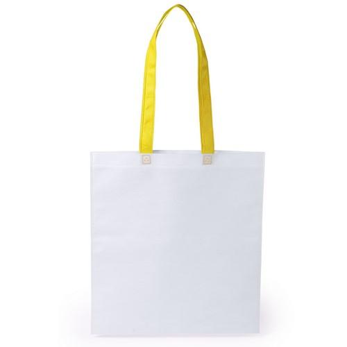 Stijlvolle shopper tas bedrukken geel