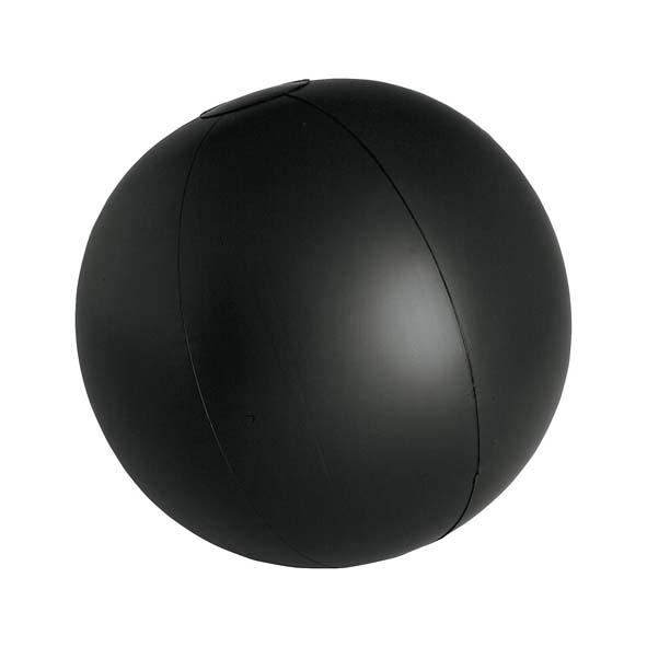 Strandbal 28cm bedrukken zwart