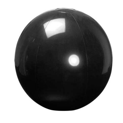 Strandbal maxi 40cm bedrukken zwart