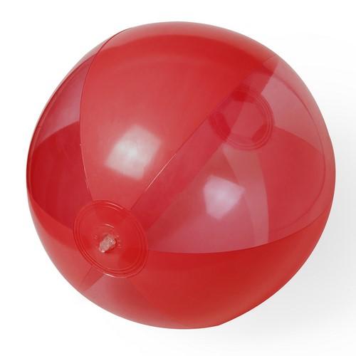 Strandbal met panelen 28cm bedrukken rood