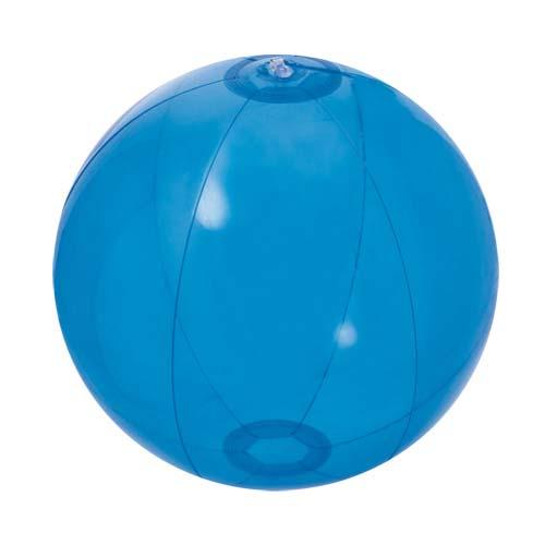 Strandbal transparant 28cm bedrukken transparant blauw
