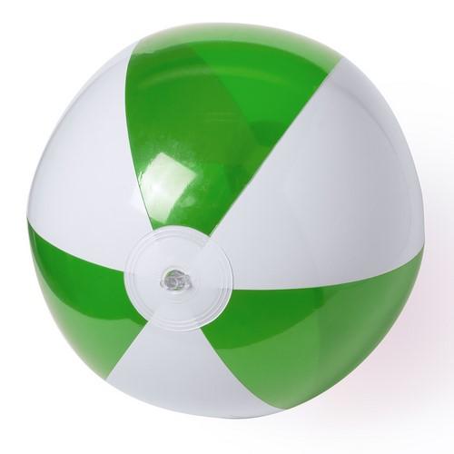 Strandbal tweekleurig 28cm bedrukken groen