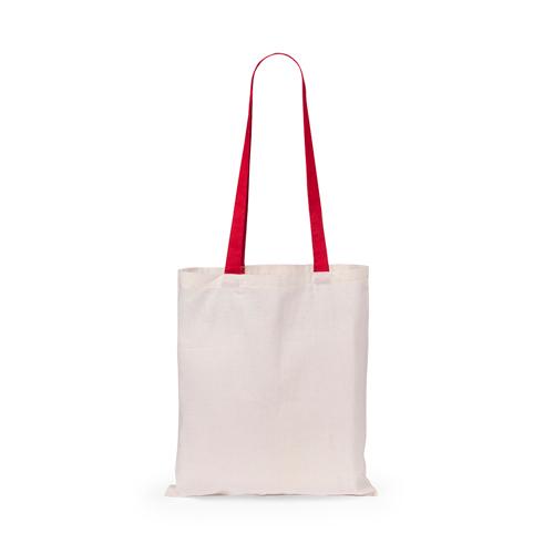 Tas met lange hengsels bedrukken rood