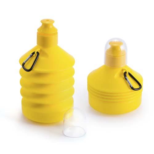Vouwfles drinkbeker 570ml bedrukken geel