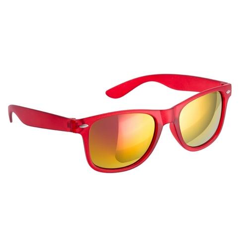 spiegel uv400 zonnebril met logo rood