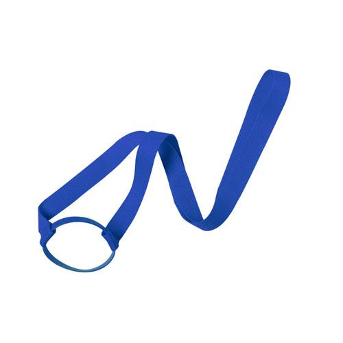 Keycord met bekerhouder blauw