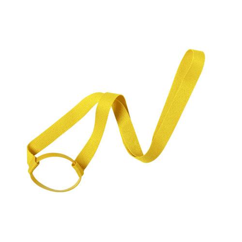 Keycord met bekerhouder geel