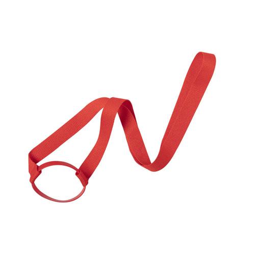 Keycord met bekerhouder rood