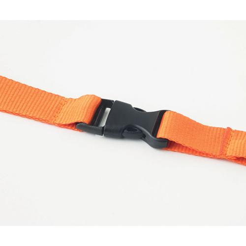 Keycord met karabijnhaak en clip oranje