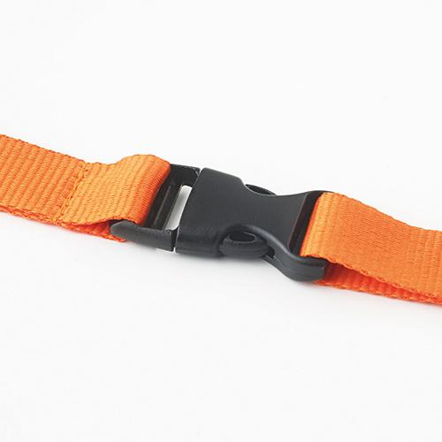 Keycord met karabijnhaak en clip oranje 3sfeer