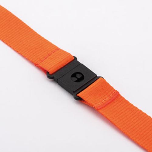 Keycord met metalen karabijnhaak en veiligheidssluiting oranje
