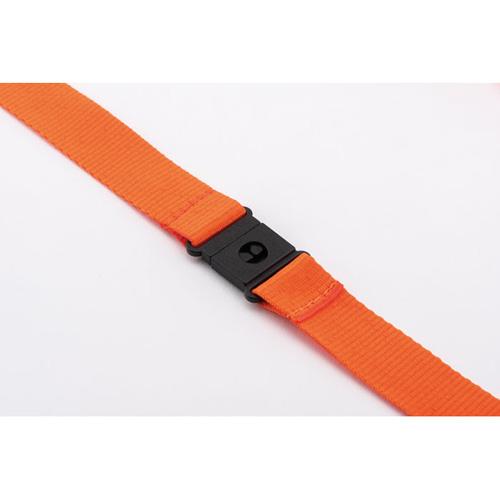 Keycord met metalen karabijnhaak oranje