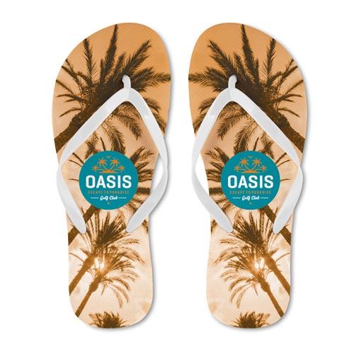 Custom made beach slippers