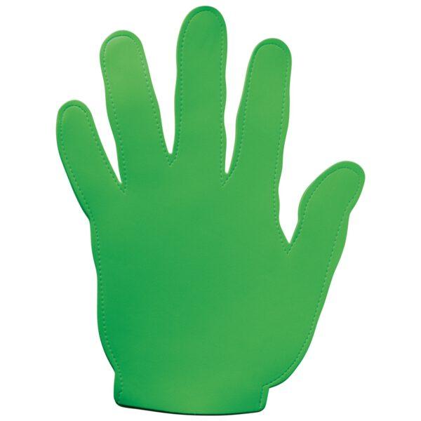 Evenementen zwaaihand foam groen