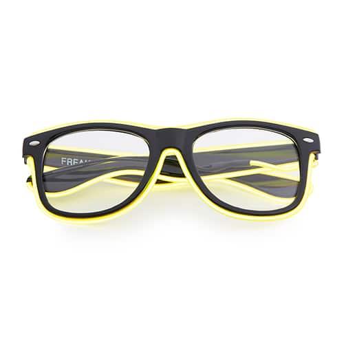 Neon nerdbril geel