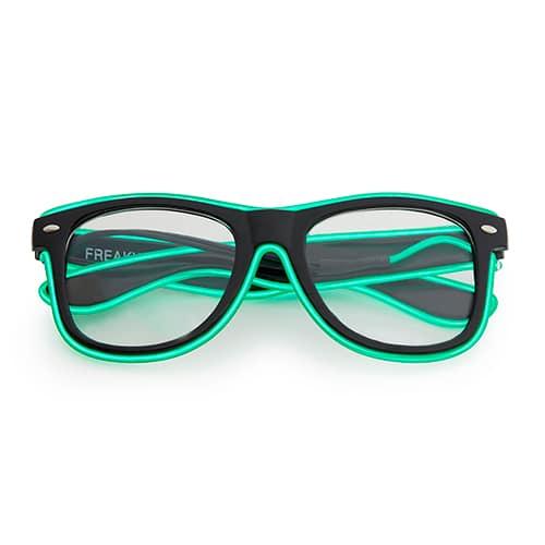 Neon nerdbril groen