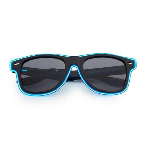 Neon zonnebril blauw