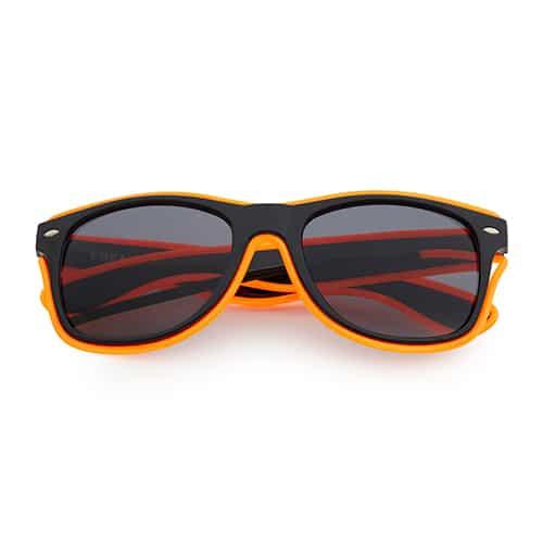 Neon zonnebril oranje