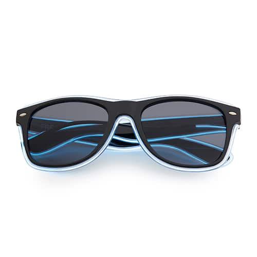 Neon zonnebril wit