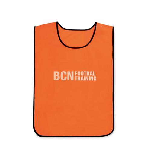 Oranje sporthesje bedrukken logo