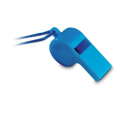 Scheidsrechterfluitje bedrukken blauw
