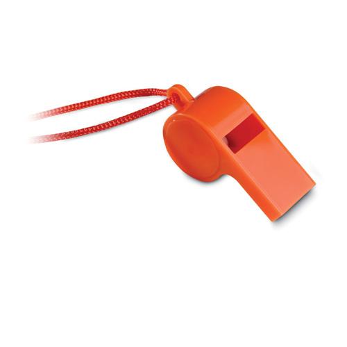 Scheidsrechterfluitje bedrukken oranje