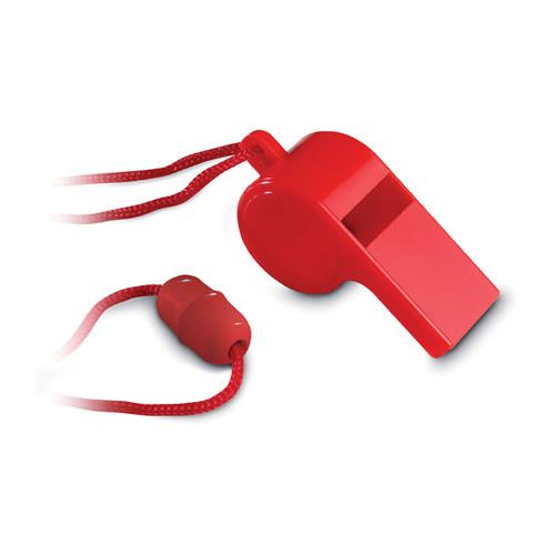 Scheidsrechtersfluitje bedrukken rood