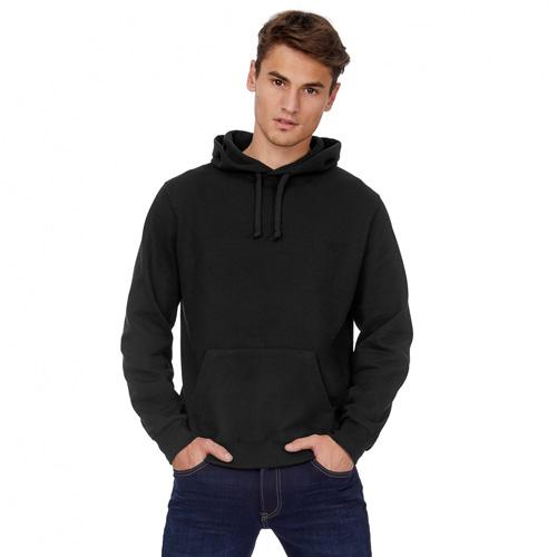 Basic hoodie heren zwart