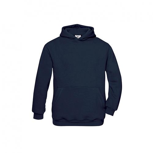 Basic hoodie kids donkerblauw
