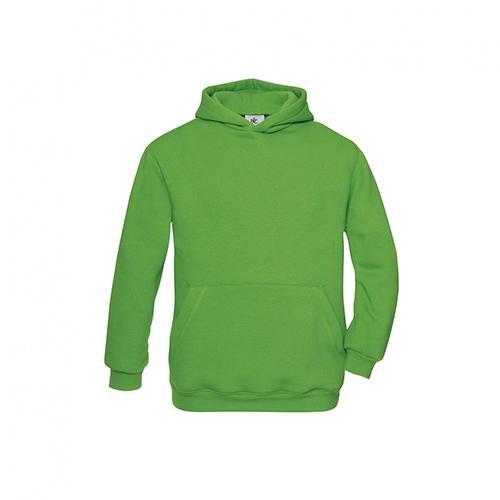 Basic hoodie kids groen