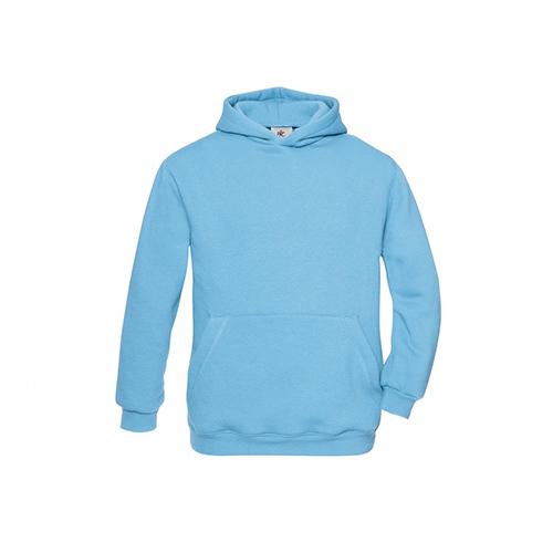 Basic hoodie kids lichtblauw
