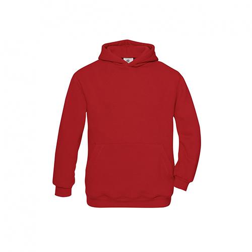 Basic hoodie kids rood