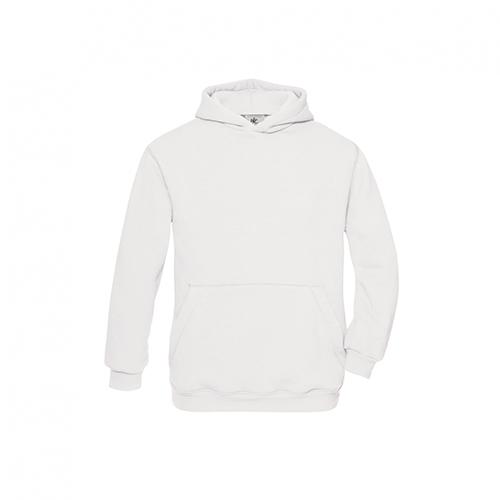 Basic hoodie kids wit