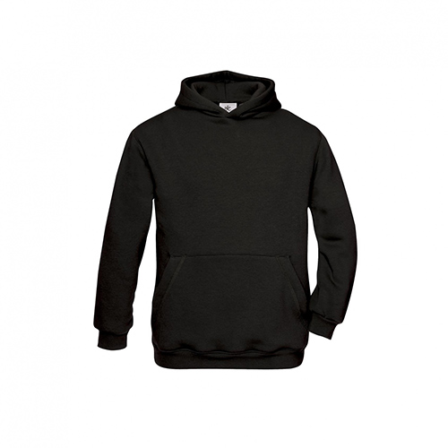 Basic hoodie kids zwart
