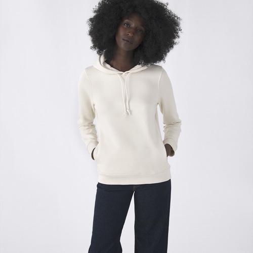 Basic hoodie organisch bedrukken