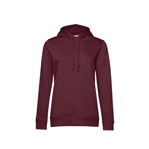 Basic hoodie organisch bordeaux rood