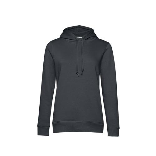 Basic hoodie organisch donkergrijs