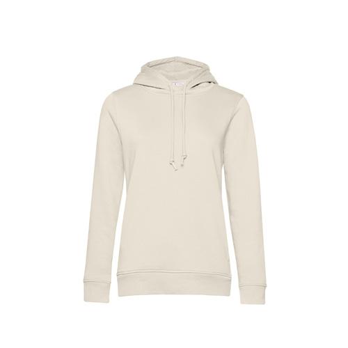 Basic hoodie organisch gebroken wit