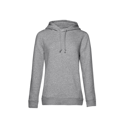 Basic hoodie organisch grijs