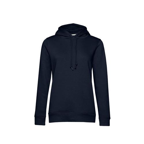 Basic hoodie organisch navyblauw.