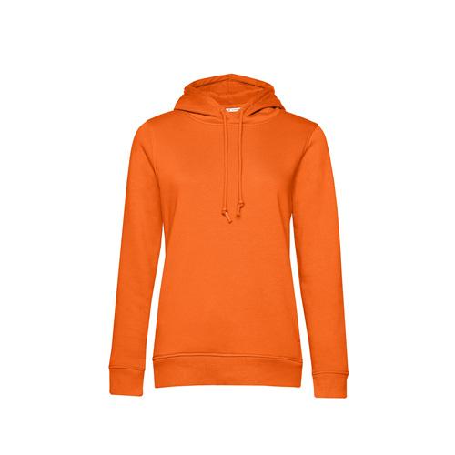 Basic hoodie organisch oranje