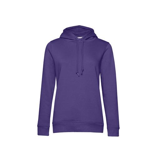 Basic hoodie organisch paars