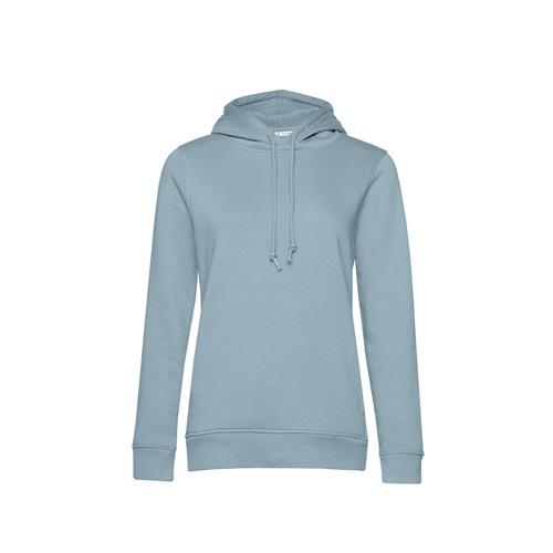 Basic hoodie organisch pastel blauw