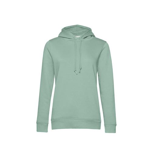 Basic hoodie organisch pastel groen