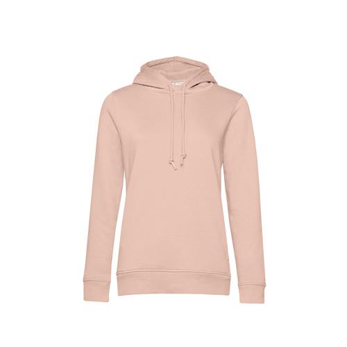 Basic hoodie organisch pastel roze